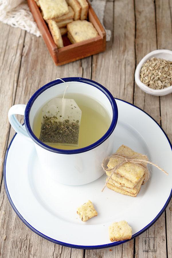 cestini con tè