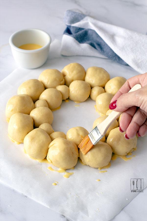 ghirlanda di danubio salato preparazione