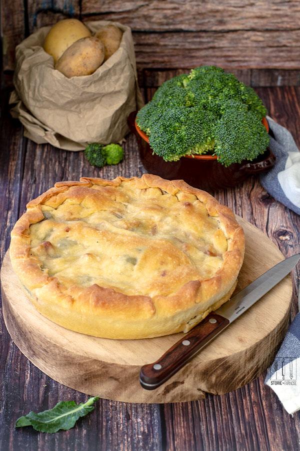 Scacciata catanese con broccoli cotta