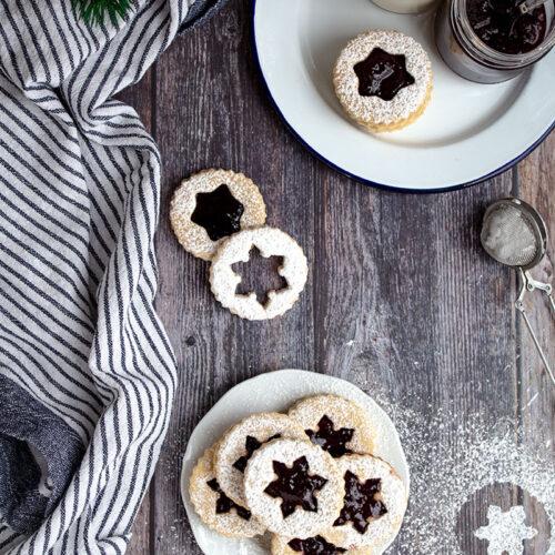 linzer cookie con marmellata copertina