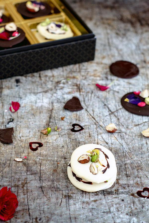 mendiants francesi cioccolato bianco