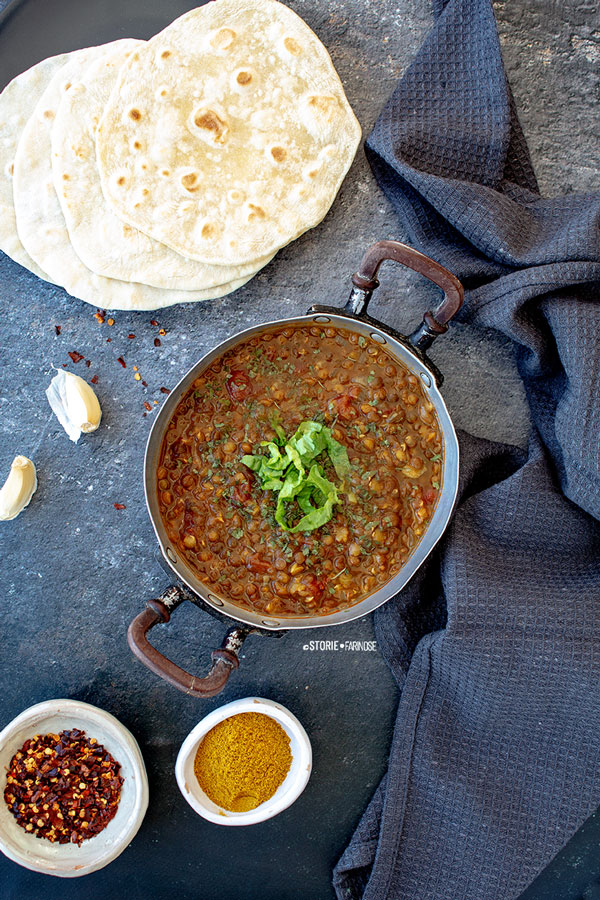 chapati e dahl indiani