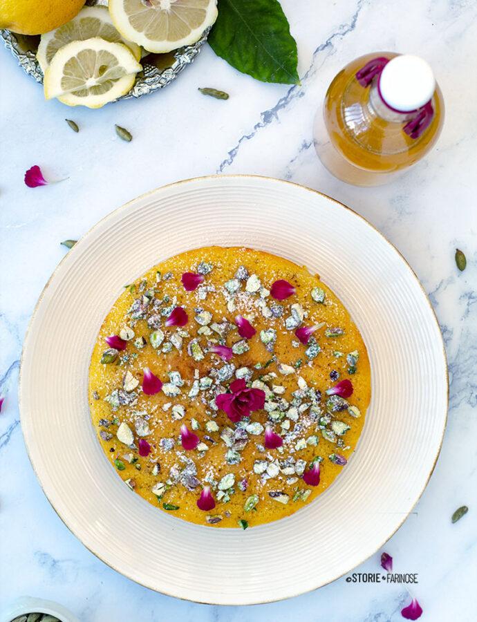 Persian love cake con sciroppo al limone