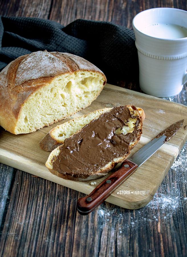 pane di semola di altamura con nutella