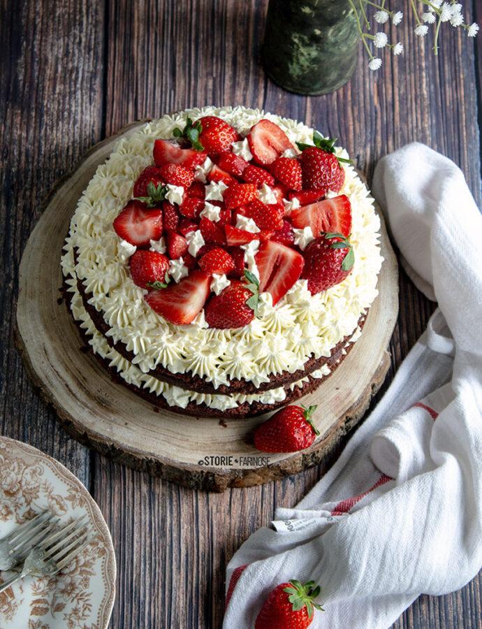 La Red Velvet Cake con fragole