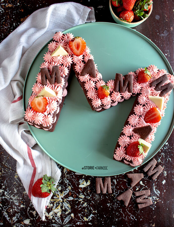 Letter cake o Cream Tart