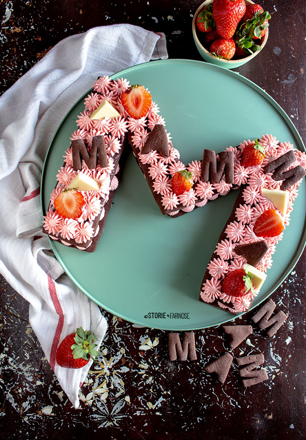 letter cake al cioccolato