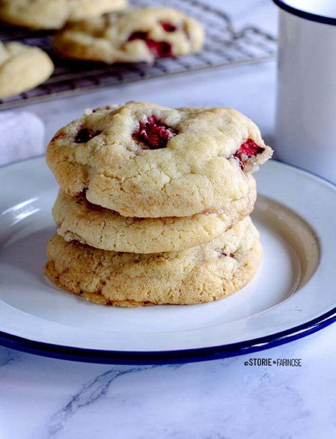 Cookies cheesecake alle fragole