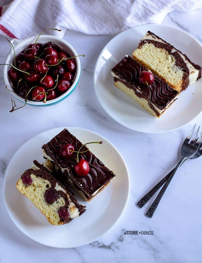 Donauwelle, la torta Biancaneve alle ciliegie