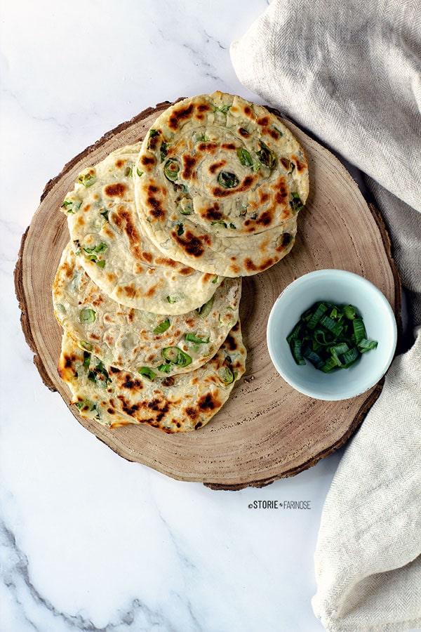 pancake cinesi al cipollotto verde
