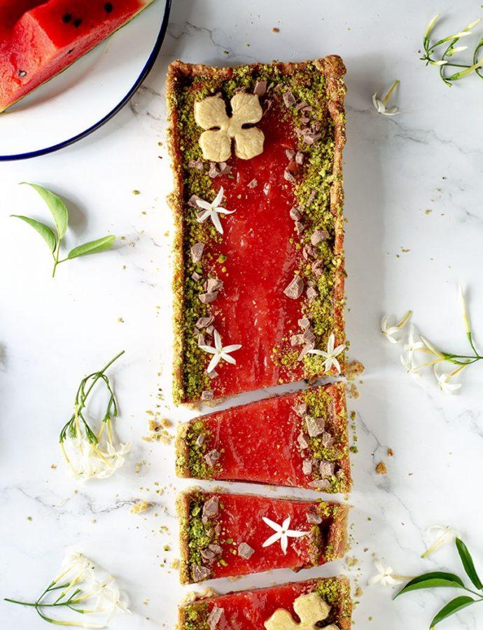 Crostata al gelo di anguria o mellone, il dolce palermitano