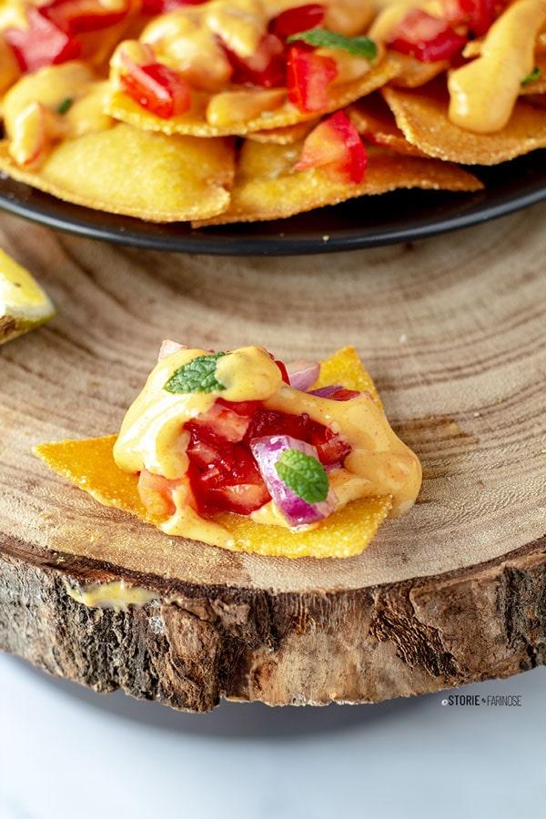 tortillas chips con pomodoro