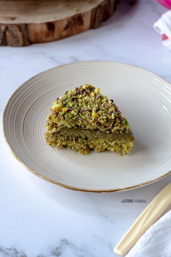 torta al pistacchio di Bronte fetta